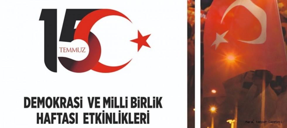 15 Temmuz Demokrasi ve Milli Birlik Haftasını Sportif etkinlikler ile kutlamalar yapıldı