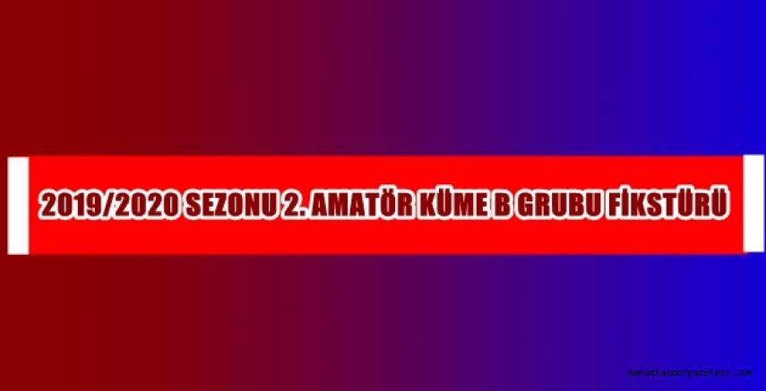 2019 - 2020 Sezonu 2. Amatör Küme B Grubu Fikstürü