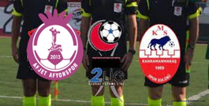 Afjet Afyonspor - Kahramanmaraşspor maçının hakemleri açıkladı
