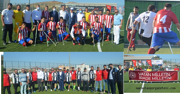 Ampute Futbol Karşılaşması Türkoğlu'nda oynandı