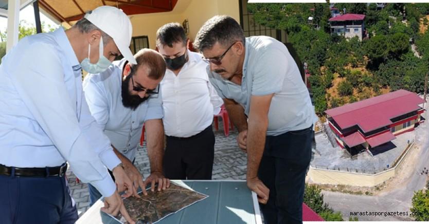 Başkan Okay, Gafarlı sosyal tesisinde incelemelerde bulundu