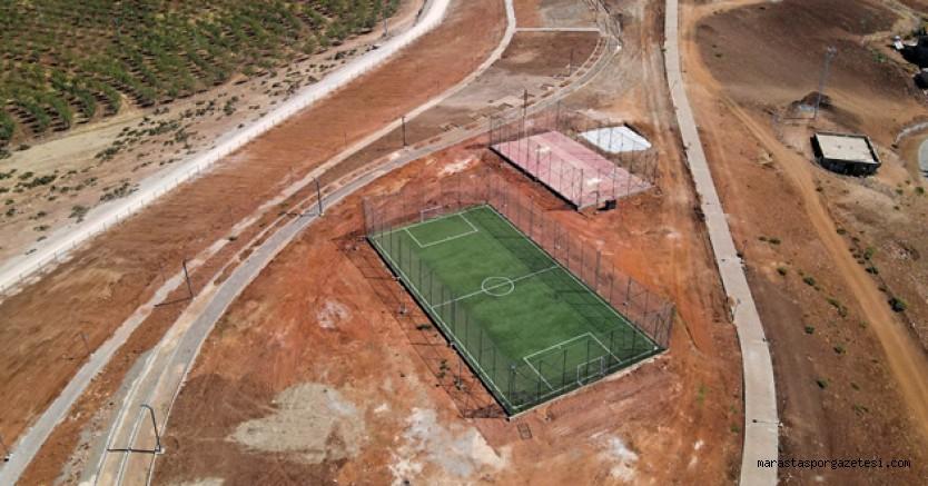 Basket ve futbol sahaları olan Pazarcık'a 95 Bin Metrekarelik Mesire Alanı