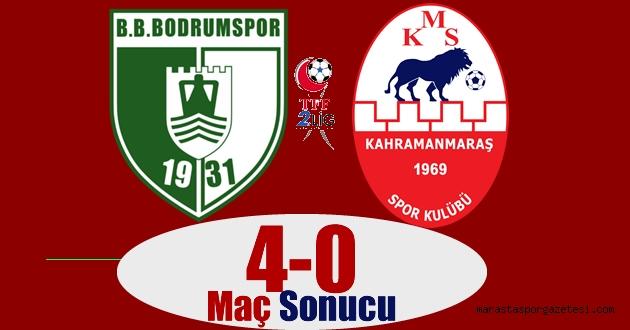 Bodrumspor 4-0 Kahramanmaraşspor maç sonucu özet