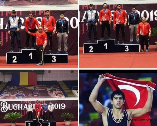 Bükreş'te Büyükşehir' in Mili Güreşçileri 3 Madalya Kazandı