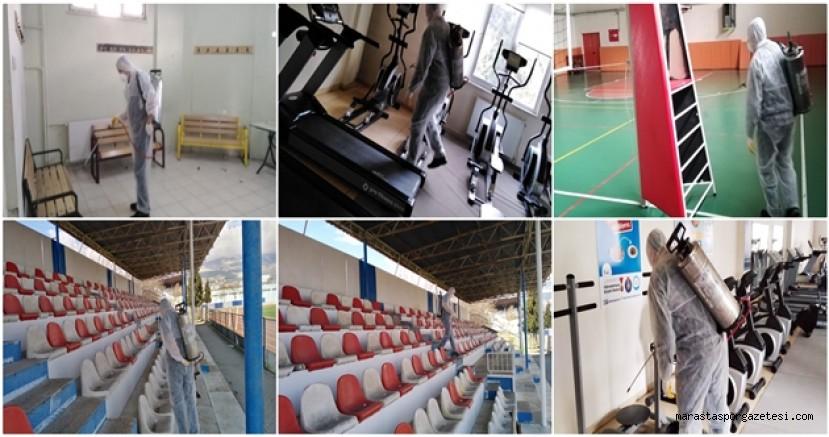 Büyükşehir'den Spor Tesislerine Dezenfekte