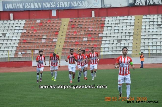 Elbistan Belediyespor'a galibiyeti getiren gol