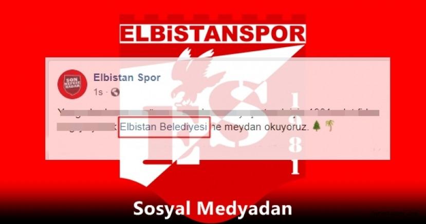 Elbistanspor, Elbistan Belediyesi'ne meydan okudu