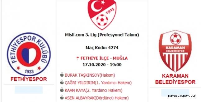Fethiyespor -  Karaman Belediyespor maçı özet