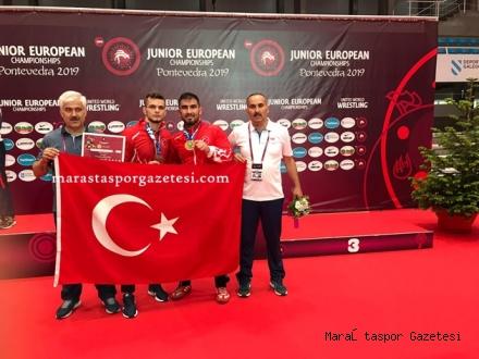 Avrupa  Şampiyonasında Büyükşehir'in Güreşçilerinden 1 altın,  1 bronz madalya