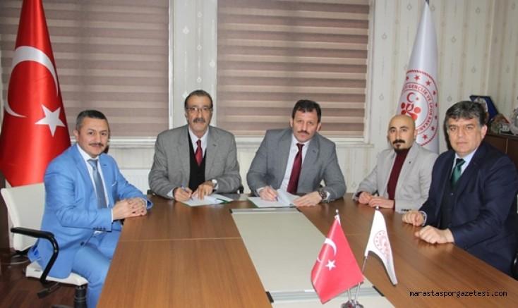 Gençlik ve Spor İl Müdürlüğü ile Kahramanmaraş ASKF arasında imzalar atıldı