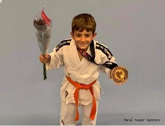 Kahramanmaraş'lı Minik Judocu 3.kez şampiyon oldu