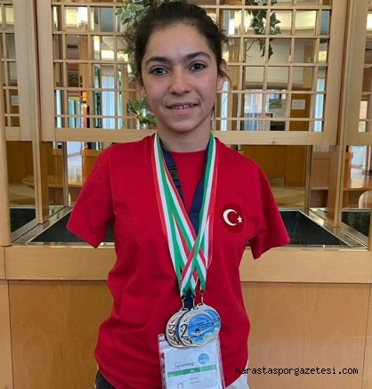 Kahramanmaraş'lı Sevilay Öztürk Olimpiyat ve Avrupa Şampiyonası'nda kürsüye  çıktı