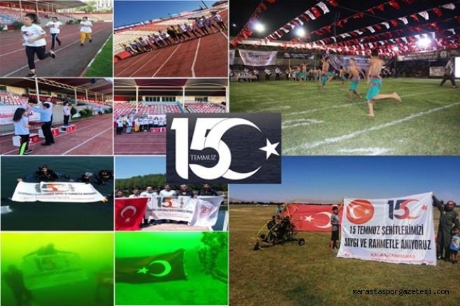 Kahramanmaraş'ta Karada, Havada ve Su Altında  Sportif Faaliyetler yapıldı