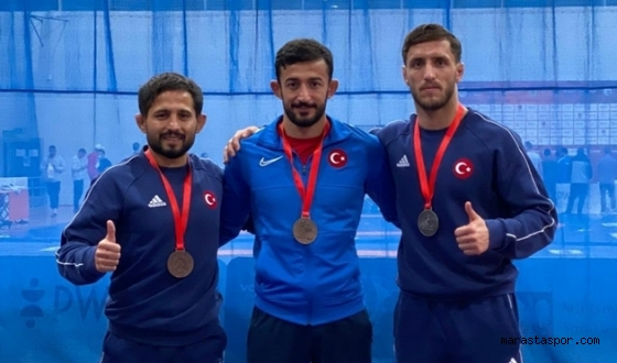 Kahramanmaraşlı Milli güreşçiler 1 gümüş 2 bronz madalya kazandılar