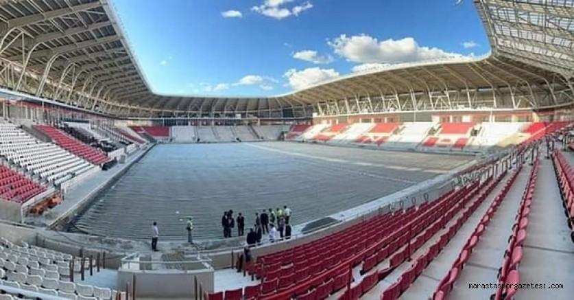 Kahramanmaraşspor ile 2.ligde mücadele edecek olan takımın Yeni stadyumunda sona yaklaşıldı