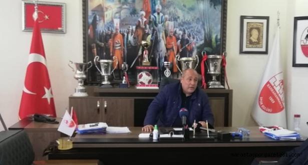 Kahramanmaraşspor Kulüp Başkanı Basın Toplantısı Düzenledi