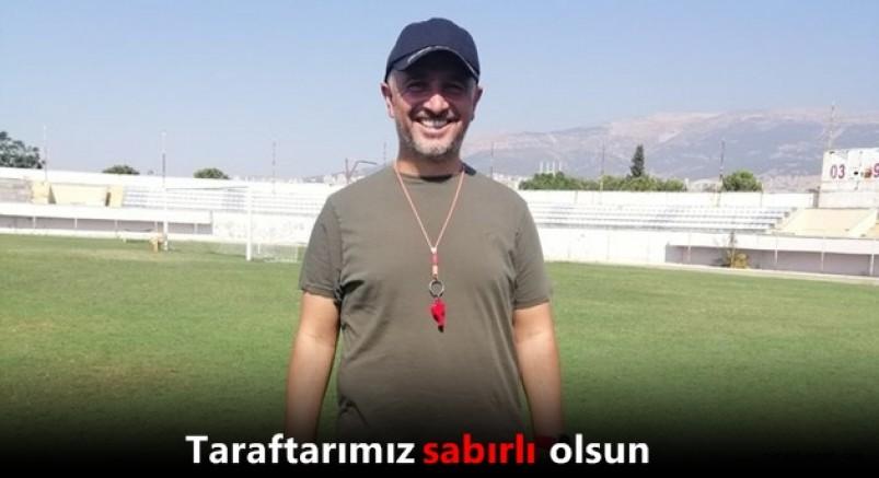 Kahramanmaraşspor Teknik Direktörü Sinan Yücer'den açıklama