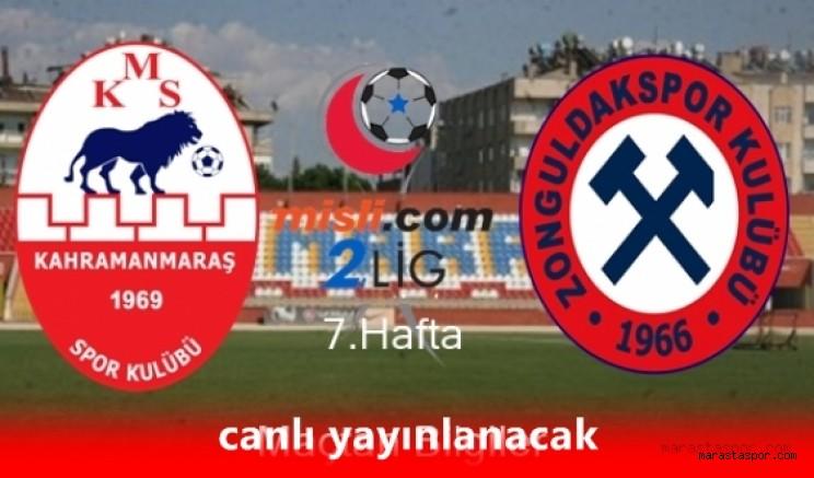 Kahramanmaraşspor - Zonguldak Kömürspor maçı canlı yayınlanacak