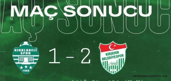 Kırklarelispor 1-2 Kırşehir Belediyespor maçın özeti