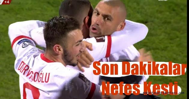 Letonya 1-2 Türkiye maç sonu özet