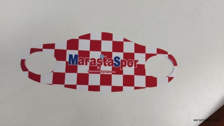 Maraştaspor Gazetesi logolu maskeler satışta