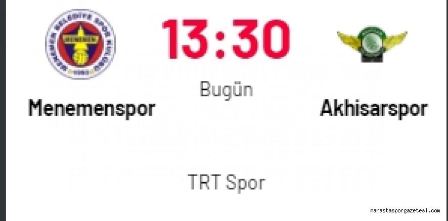 Menemenspor - Akhisarspor maçı canlı izle
