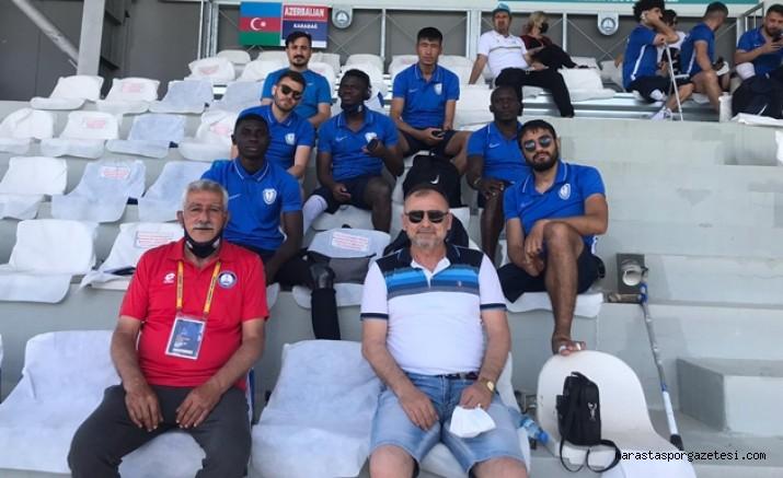 Şampiyonlar Ligi maçlarında Kahramanmaraş'ı Vedat Dişbudak temsil etti