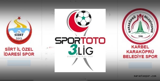 Siirtspor-  Karaköprü Belediye Spor maçı ne zaman saat kaçta hangi kanalda