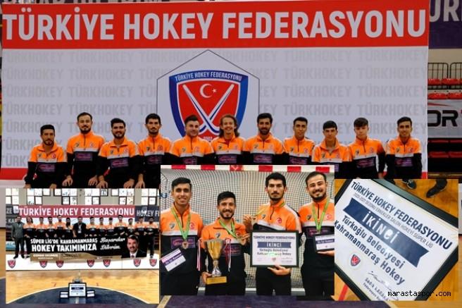 Türkiye ikincisi Türkoğlu Belediyesi  Hokey takımı oldu
