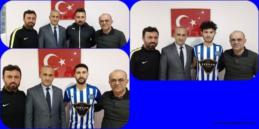 Türkoğlu Belediyespor'da yeni imzalar atıldı.