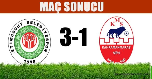 Yine olmadı (Etimesgut Belediyespor 3-1 Kahramanmaraşspor  MAÇ SONUCU | ÖZET)